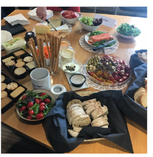 Wine and cheese event, Leicester Office